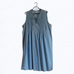 My Style Light Blue Denim Dress 2X